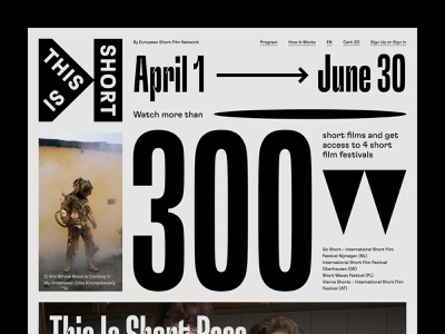 This Is Short in Grey festival variable font typography web uidesign webdesign