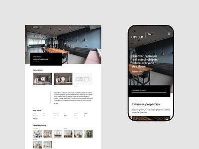 Upper 10 - location webdesign real estate uidesign premium branding