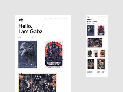 I Am Gabz –Homepage illustrator portfolio uidesign web minimalistic webdesign
