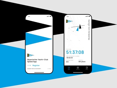 Bayerisher Yacht Club race app design ios app munich germany yacht uidesign minimalistic