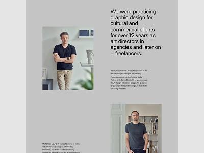 Uniforma Studio - About us portfolio web branding uidesign minimalistic webdesign