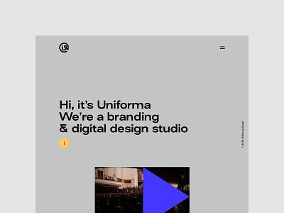 Uniforma Studio - New website portfolio branding web uidesign minimalistic webdesign