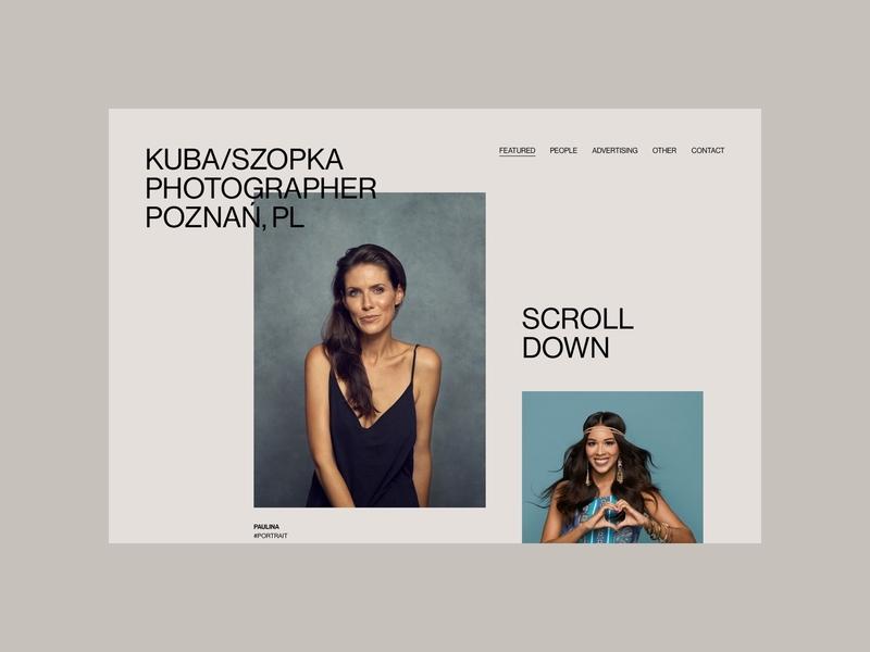 Kuba Szopka - Homepage design typography cargocollective photographer photo portfolio web minimalistic webdesign uidesign
