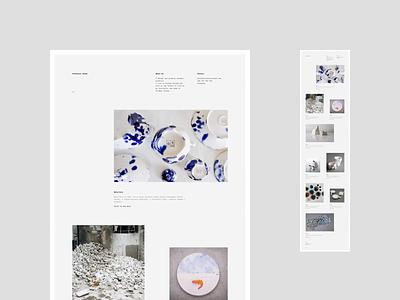 Arek Szwed Portfolio ceramics animation design cargocollective web portfolio minimalistic webdesign uidesign