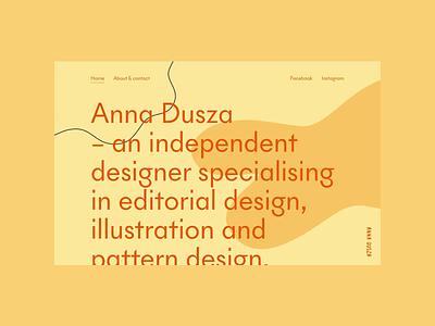 Anna Dusza - Portfolio animation design cargocollective typography illustration portfolio web minimalistic webdesign uidesign