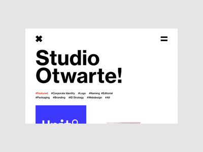 Studio Otwarte - Homepage Redesign design typography animation portfolio web minimalistic webdesign uidesign