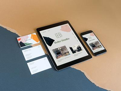Boho Studio - Branding webflow typography branding portfolio web minimalistic webdesign uidesign