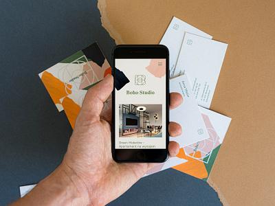 Boho Studio - Mobile responsive design mobile typography branding web uidesign minimalistic webdesign