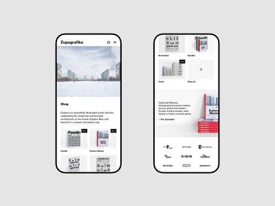 Zupagrafika - mobile version publishing brutalism architecture typography portfolio web uidesign minimalistic webdesign