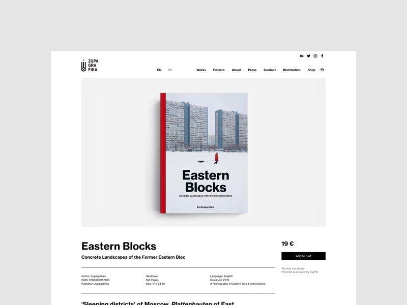 Zupagrafika - Eastern Blocks books publishing architecture brutalism typography uidesign minimalistic webdesign