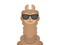 Cool Llama Emoji