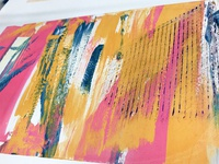 Textured Silkscreen Print