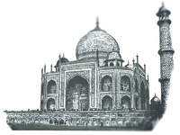 Taj Mahal Silkscreen Illustration