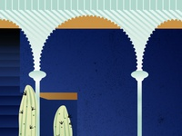 Travel illustration detail