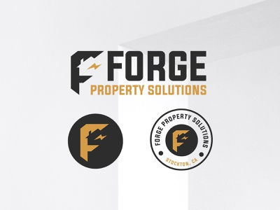 Forge Portfolio cleandesign brand identity logodesign minimal realestate logo icon design branding