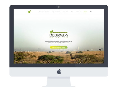 Encouragers Website branding design web desgin web