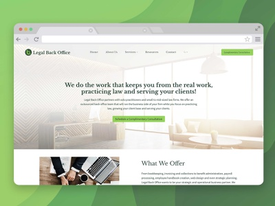 LBO Landing page ux ui web desgin web design