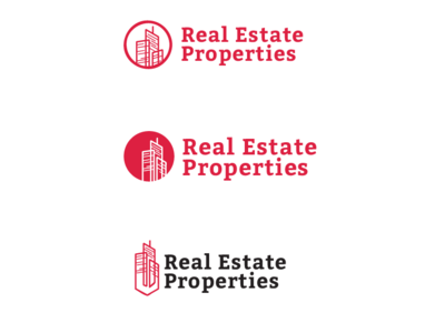 Real Estate Concept illustration icon logo design branding