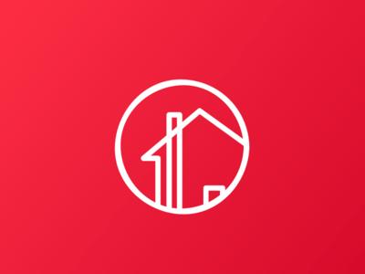 Real Estate Icon Concept design flat illustration icon logo branding