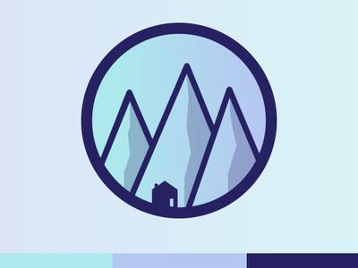 Colorado Housing Brand flat illustration logo branding design