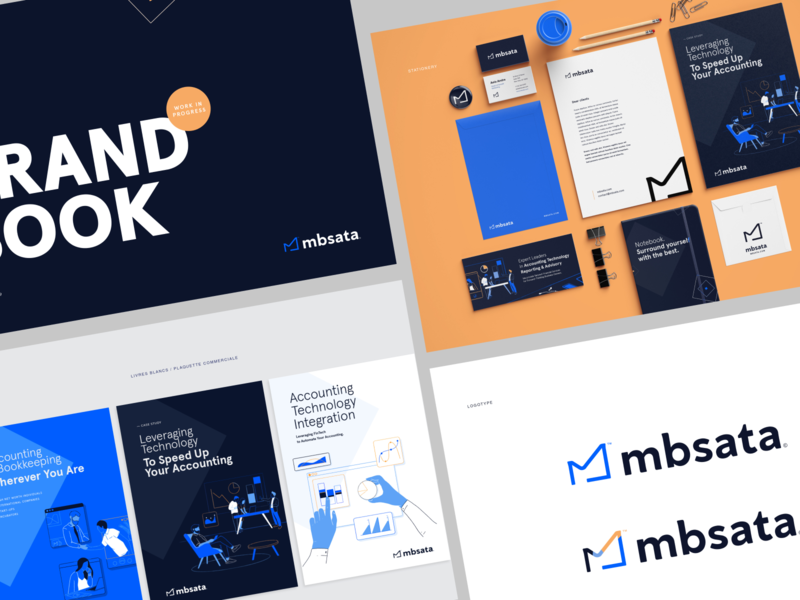 New branding for MBS ATA illustration fun color guidebook guideline font logo typography branding vector