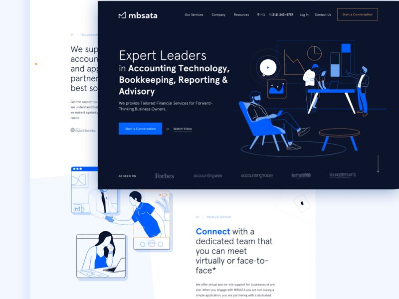 Homepage for MBS ATA illustrator animation vector website design web app ui flat branding
