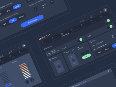 Design system - IDSwitch dark theme design system dark ui dark flat web vector app ux ui