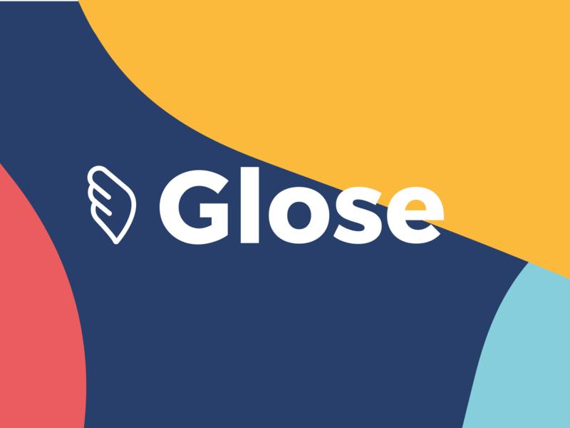 Branding - Glose fun branding minimal typography web design logo flat color vector