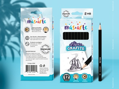 Packaging and Mockup - Graphite pencil illustration logo branding graphite drawing graphic design draw mockup design mockup packaging design packaging package