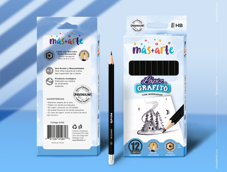 Packaging and Mockup - Graphite pencil