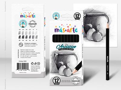 Packaging and Mockup - Graphite pencil Kit packaging design packaging package mockup design mockup logo illustration graphite drawing graphic design branding
