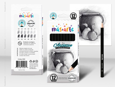 Packaging and Mockup - Graphite pencil Kit