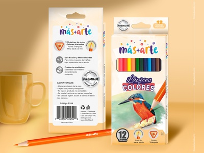 Packaging and Mockup - Colored Pencils pencil art colored pencils vector draw branding graphic design packaging design package packaging mockup design mockup illustration