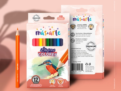 Packaging and Mockup - Colored Pencils