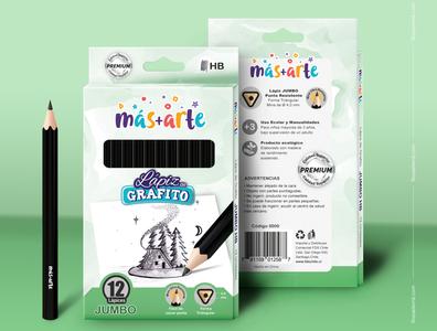 Packaging and Mockup - Jumbo Pencils