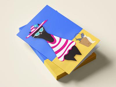 The Cat Mathilde black cat illustrator vector illustration art illustration graphics graphic design cats cards design