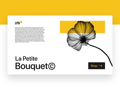 Florist Landing Page clean minimal digital aesthetic webdesig website design ui flower