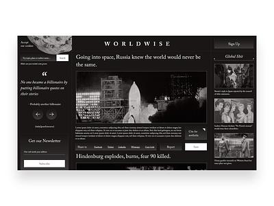 WorldWise News Website Design typogaphy website design ui design aesthetic web design landing page digital ui
