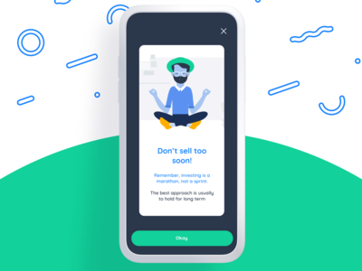 Character meditating - Investment App