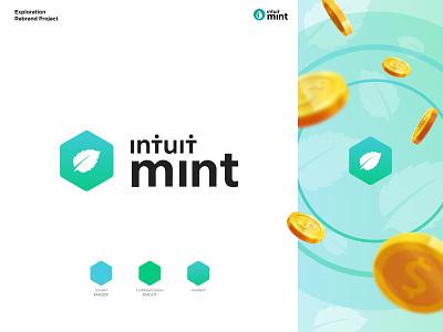 Mint: Personal Finance & Money Logo Redesign modern logo minimalist logo brand guide finance app finance design visual identity branding branding and identity rebranding logo design logo
