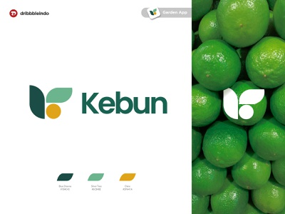 Kebun : Garden App (Collaboration Product) collaboration fake project garden app ux research geometric design minimalist logo ux ui modern logo logo design branding design logo