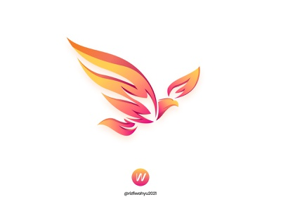 Eagle Fire technology illustration vector flame bird modern logo fire eagle logo design logo branding design