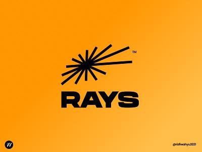 RAYS Logo Design geometric absract sunray sun minimalist logo visual identity modern logo logo design logo branding design