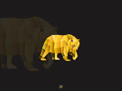 POLYBEAR polygon icon vector 3d visual identity branding and identity modern logo logo design logo branding design