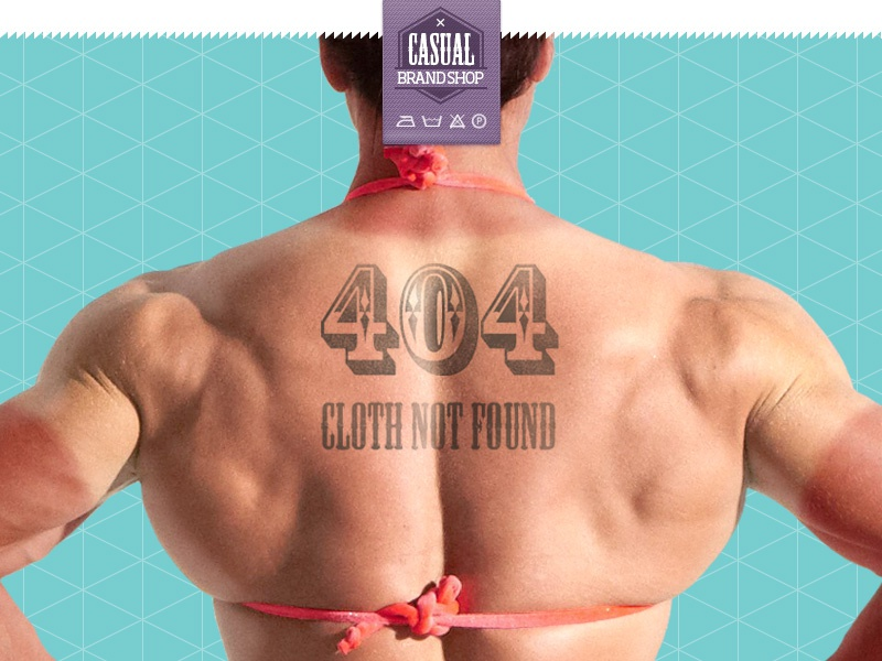 Casual brand shop 404