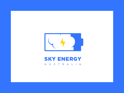 Sky Energy Logo energy sky australia battery cloud logo