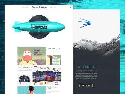 Speed Motion v.2 motion mountains portfolio scroll satellite zeppelin landing page web design flat