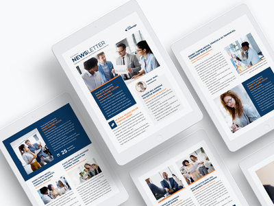 Newsletter Template for iPad adobe indesign indesign template ipad ebook layout ebook design ebook newsletter