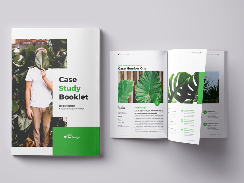 Case Study Booklet indesign template case study template