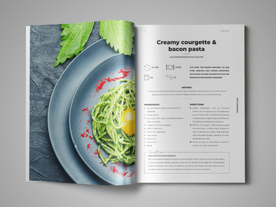 Cookbook / Recipe Book Template indesign template recipe book cookbook template cookbook
